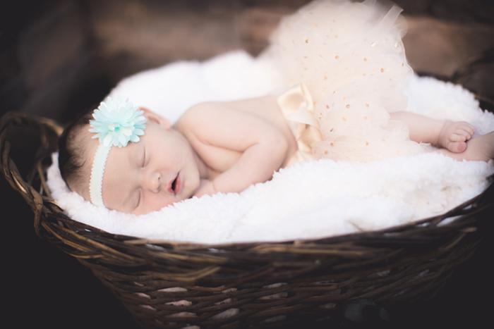 babysleepinginbasket